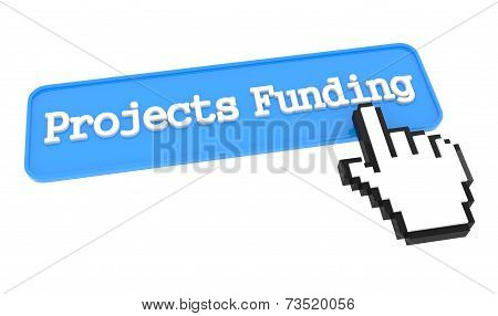 Projects Funding Button with Hand Cursor.
