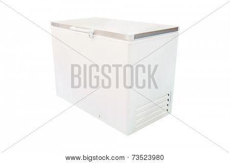 freezer under the white background
