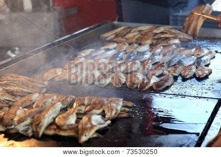 Roasting Fish For Sandwich