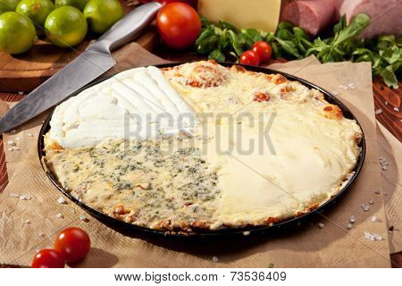 Quattro Formaggi Pizza made from Four Cheese