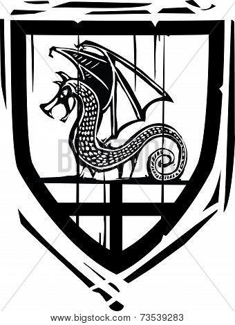 Heraldic Shield Dragon