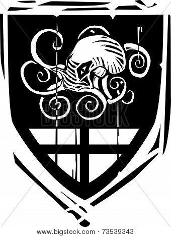Heraldic Shield Kraken