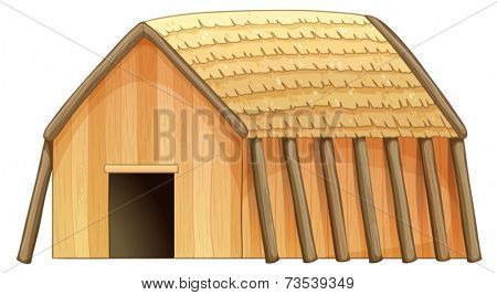 Illustration of a close up cottage