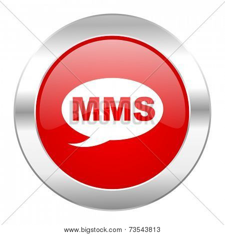 mms red circle chrome web icon isolated