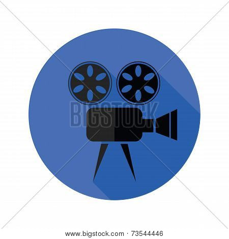 Movie Projector Flat Icon