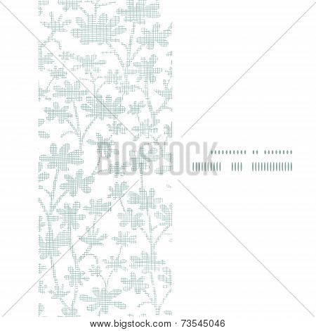 Vector abstract gray bush leaves textile vertical frame seamless pattern background