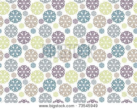 Seamless pattern with circle elements