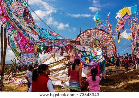 Broken Giant Kite, All Saints' Day, Guatemala