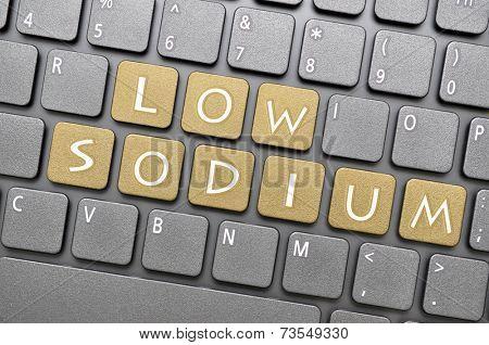 Brown low sodium on keyboard