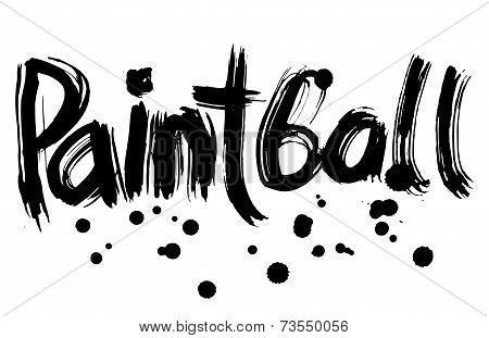 Paintball Hand Lettering. Handmade Calligraphy. Vector