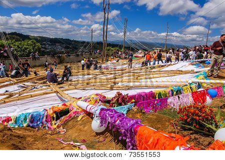 Reverse Side Of Giant Kites On The Ground, All Saints' Day, Guatemala
