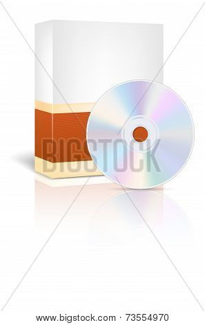 Abstract Empty Box And Cd - Place For Your Text