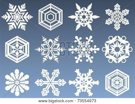 Snowflake Icon Set