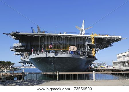 The USS Midway Museum located in downtown San Diego, California at Navy Pier