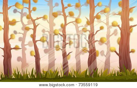 Cartoon Forest Background Landscape