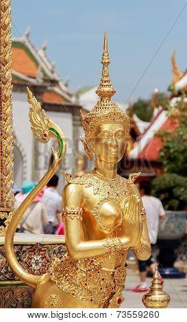 Kinnaree Sculpture, Closeup