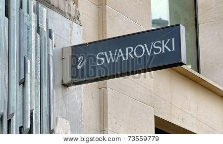 Swarovski store on Oxford street