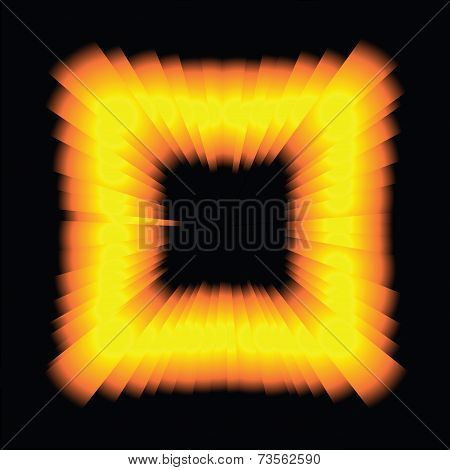 Psychedelic light square