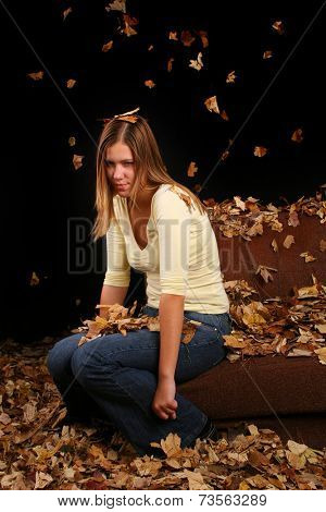Girl who just doesn't like autumn and all those leaves