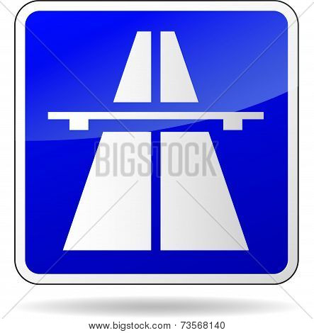 Freeway Blue Sign