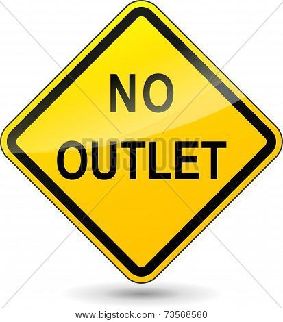 No Outlet Diamond Sign
