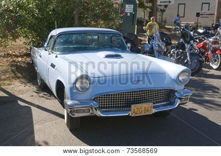 West Point, CA October 4, 2014: Lumberjack day, a typical slice of Americana, a car show, one of the events for the day in this small American Sierra foothills community