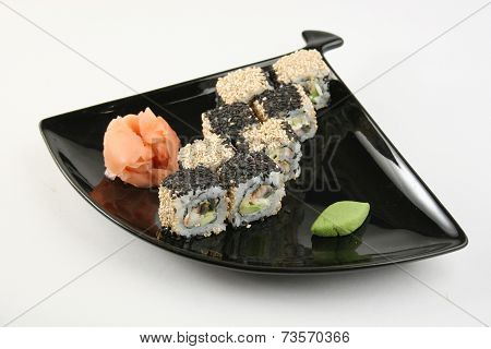 Sushi Roll With Conger Eel In Sesame