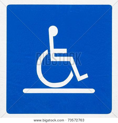 reserved parking sign for handicapped