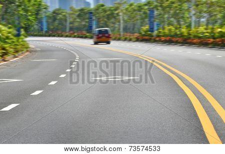 urban traffic  Bending Road