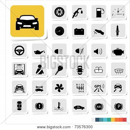 Automotive icon set