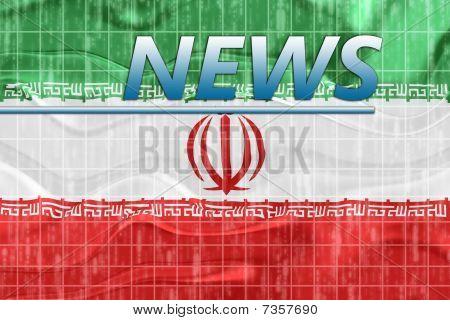 Flag Of Iran Wavy News
