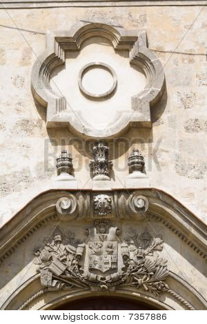 Architectural Detail Of An Old Colonial Church (v)