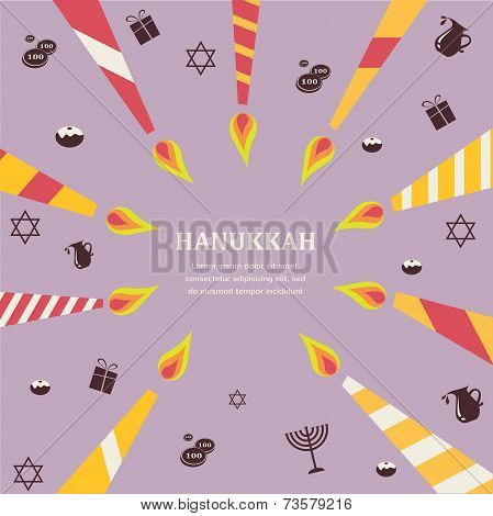Eight candles for eight days of Jewish holiday Hanikkah infographics