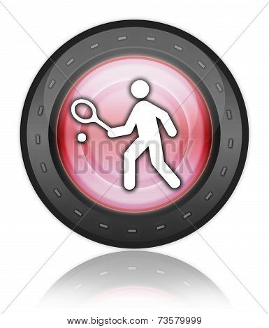 Icon, Button, Pictogram Tennis