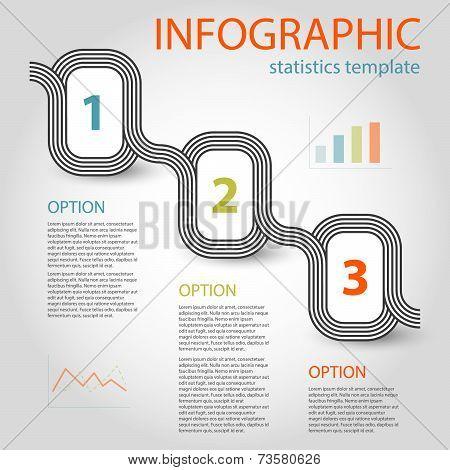 Business Infographic 3 Steps Timeline