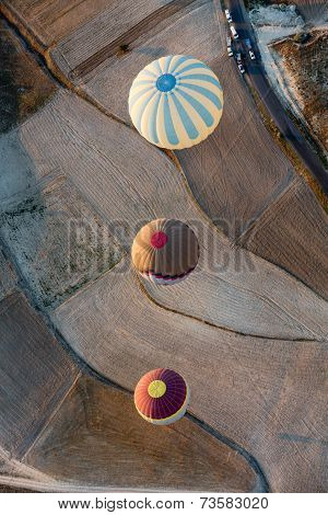 Cappadocia Turkey.The greatest tourist attraction of Cappadocia the flight with the balloon