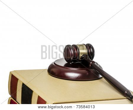Law legal issue concept image, gazel on law books