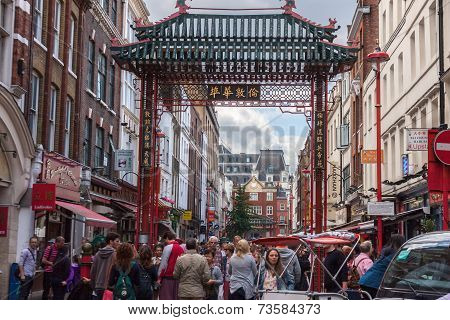 View of Chinatown in London