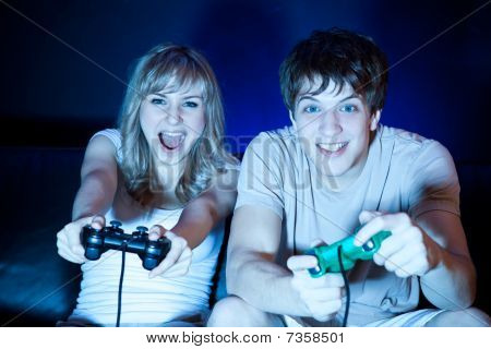 poster of Couple Playing Video Games