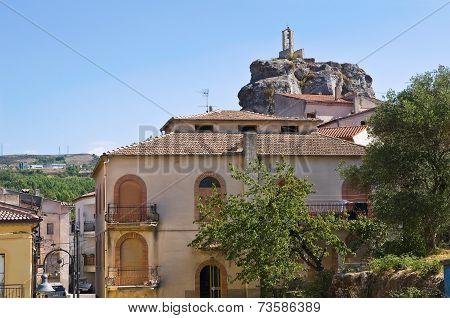 Panoramic view of Satriano di Lucania. Italy.
