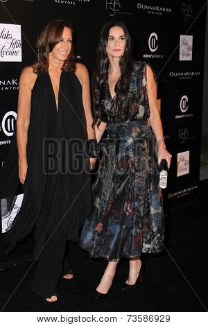 LOS ANGELES - OCT 8:  Donna Karan, Demi Moore at the 5th Annual PSLA Autumn Party at 3LABS on October 8, 2014 in Culver City, CA