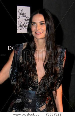 LOS ANGELES - OCT 8:  Demi Moore at the 5th Annual PSLA Autumn Party at 3LABS on October 8, 2014 in Culver City, CA