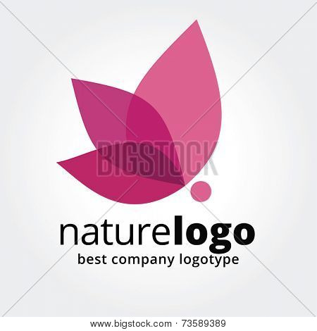 Abstract vector flower similar to rose butterfly logotype concept isolated on white background. Key ideas is spa, beauty, design, nature, creative, health. Good for corporate identity and branding
