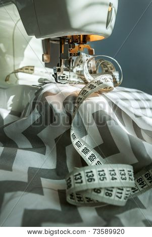 Taylor Workplace: Sewing Machine , Fabric And Sewing Meter