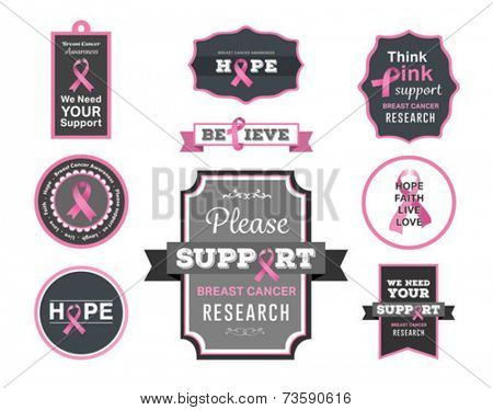 Digitally generated Breast cancer awareness vector with fighting girls