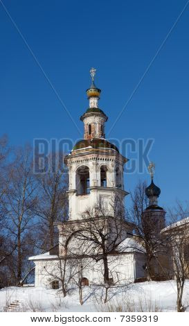 Old Orthodox Church Bell Tower, Vologda, Russia