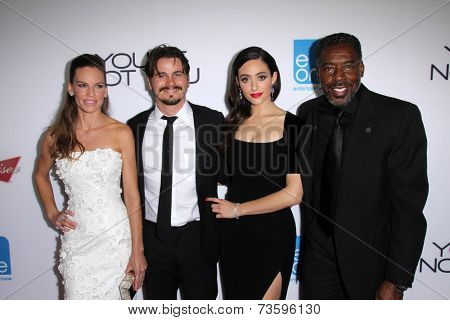 LOS ANGELES - OCT 8:  Hilary Swank, Jason Ritter, Emmy Rossum, Ernie Hudson at the