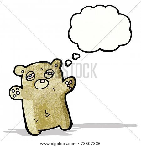 tired little bear cartoon