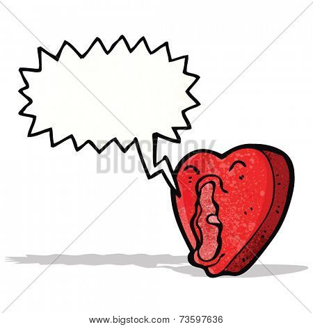 cartoon screaming heart