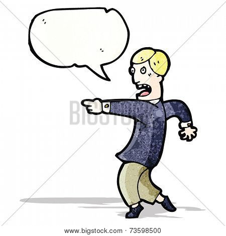 cartoon shocked man pointing